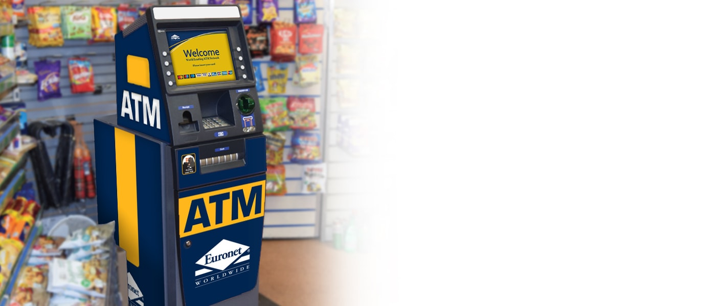 Offer your customers an additional service with a Euronet ATM.